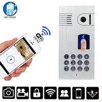 IP55 Waterproof Wireless WIFI Video Doorbell Outdoor Camera With Fingerprint Password Metal Keypad IR Night Version