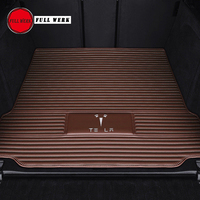 1pc Leather Car Rear Trunk Pad Car Trunk Mat Cushion Anti Dity Pad Special for Tesla MODEL S MODEL X Model 3 Interior Accessory