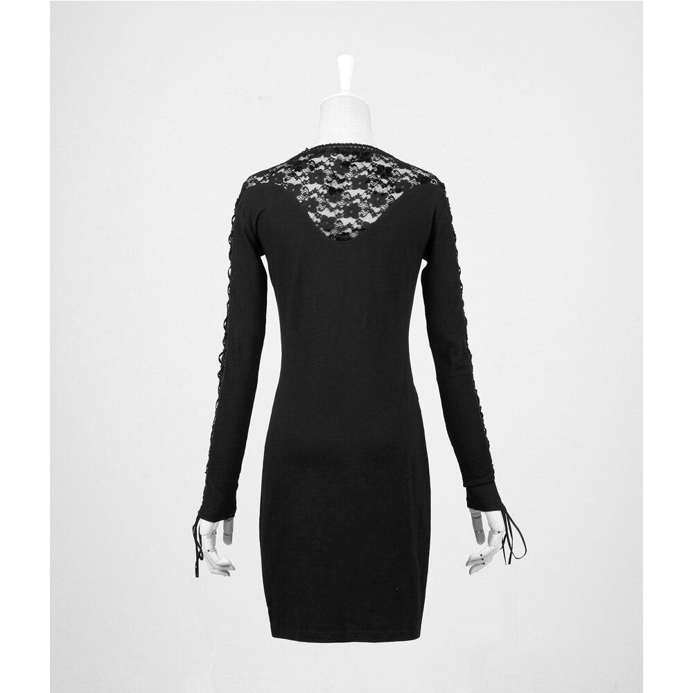 4f0249664 € 36.18  ¡Último! PunK Gothic Sexy Lace negro vestido mujeres Tight moda  Steampunk Visual Kei Q210 en Vestidos de La ropa de las mujeres en ...