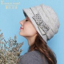 Charles Perra Brand Autumn Winter Women Hats NEW 2017 Wool Caps Thicken Thermal Casual Elegant Bucket Adjustable 5254