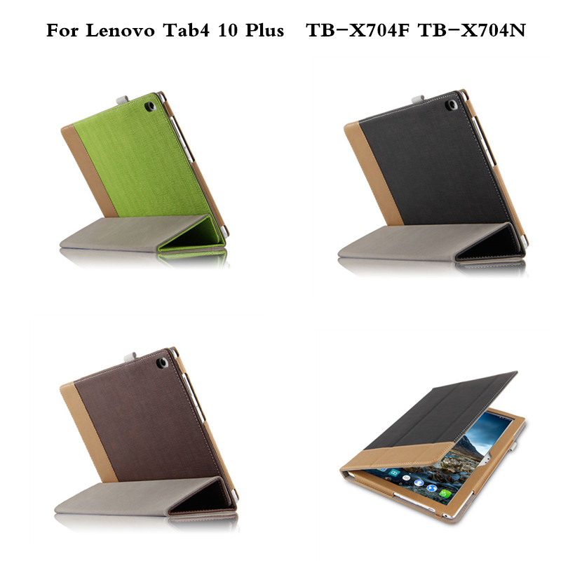 Vintage PU Leather Ultra Thin Slim Flip Business Cover Case Coque Funda For Lenovo Tab 4 10 Plus TB-X704F TB-X704N 10 Tablet ultra thin smart flip pu leather cover for lenovo tab 2 a10 30 70f x30f x30m 10 1 tablet case screen protector stylus pen