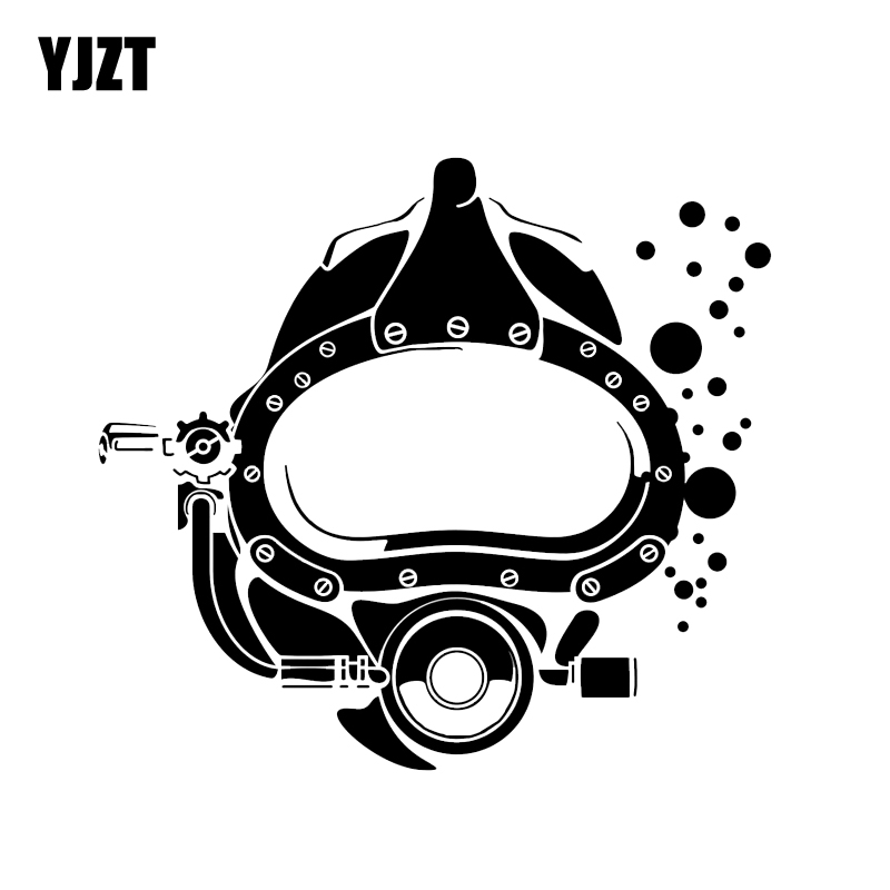 YJZT 16.6*15.1CM Funny Scuba Diver Diving Mask Silhouette Car Stickers Vinyl Decor Accessories C12-0715