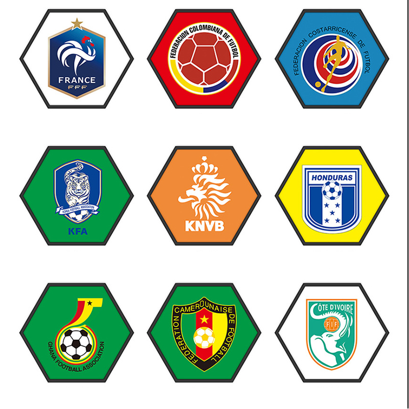 40*35 Football Team Emblem Hexagonal Paintings The world Cup Painting for Soccer Club/Bar/Home Decoration Supplies emblem