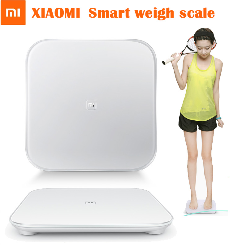 100% Original XIAOMI Smart Scale Support Android 4.4 iOS Bluetooth 4.0 Xiaomi Lo
