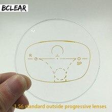 عدسات BCLEAR الخارجية التقدمية القياسية 1.56 متعددة البؤر لقصر النظر وقصر النظر الشيخوخي عدسة مخصصة ترى بالقرب من ذلك بكثير
