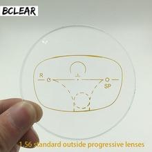Bclear 1.56 padrão fora lentes progressivas multifocais para miopia e presbiopia lente óptica personalizado ver longe perto