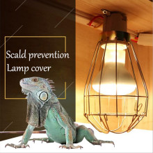 FRLED Fashion Vintage Wire Lamp Cage Lampshade Industrial Lamp Guard Cage Lamp Shade for Reptile Pet Brooder Heating Lamp Bulb(China)