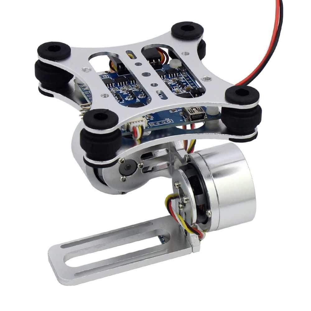 الألومنيوم 2-محور فرش كاميرا ذات محورين جبل تحكم التوصيل ل Gopro 3 3 + كاميرات ل DJI فانتوم تريكس 500/550 الطائرة بدون طيار لا دليل