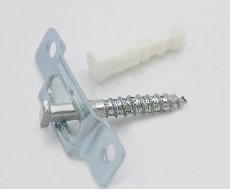 100set/Lot  SECURITY HANGER Brackets Art Picture Photo Frame Secure Safe Hanging T Lock Hangers