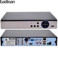 Gadinan 4ch العهد 4MP dvr/الهجين 2 * التناظرية 4 متر + 2 * ip 4 متر كشف الحركة 5 في 1 cctv dvr ل AHD-Q 3mp AHD-G 4MP كاميرا