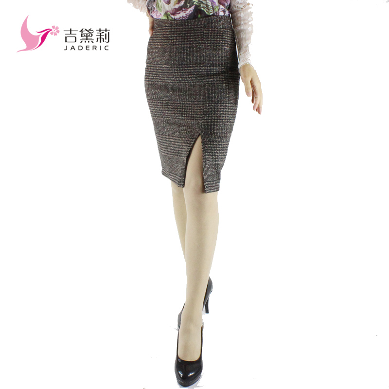 Free Shipping 2013 New Arrival Diagonal Vent Style Sexy OL Knee Length Fashion Skirt High Quality