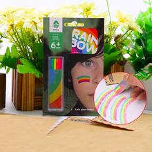 Rainbow Colors Fluorescent Body Crayon Nontoxic Safe Body Paint Tool Pen For Children Face Paint Halloween Birthday Party Makeup
