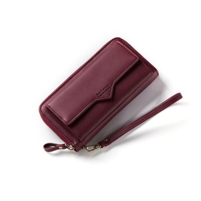 MaDonNo 2018 New Women Leather Wallets Female Solid Purses Woman Phone Cion Card Holders Ladies Big Capacity Clutch Carteras