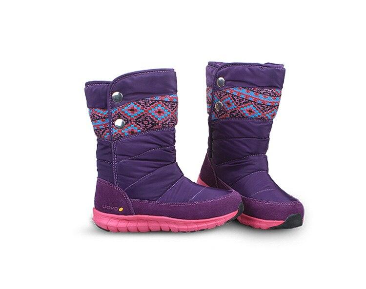 Mother & Kids Girls Uovo Brand Fashion Girls Winter Boots Leg Long Kids Snow Boots Soft Warm Children Shoes Eu27-37 Princess Botas Chaussure