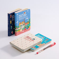 2019 Hello Coco Diary Mini Portable All Colorful Paper Design Cute Cartoon Montly Weekly Planner Lovely Stationery Gift