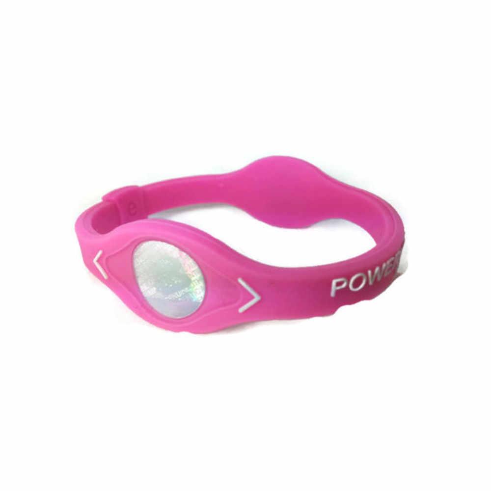 Íon negativo silicone energia pulseira pulseira esporte pulseiras equilíbrio íon terapia magnética boa elasticidade moda durável