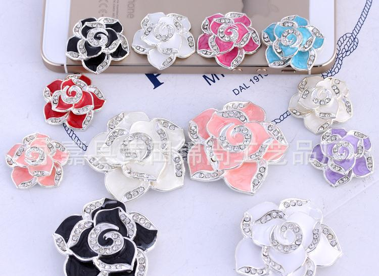Diligent 100pcs/lot 26mm Flower Shape Rhinestone Pearl Buttons Crystal Button For Wedding/party/dress Accessories/phone Beauty Drill Buttons