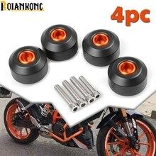 цена на FOR Duke Motorcycle Accessories Front Rear Wheel Fork Frame Sliders Crash bike Protection Against For KTM Duke 125 200/Duke 390