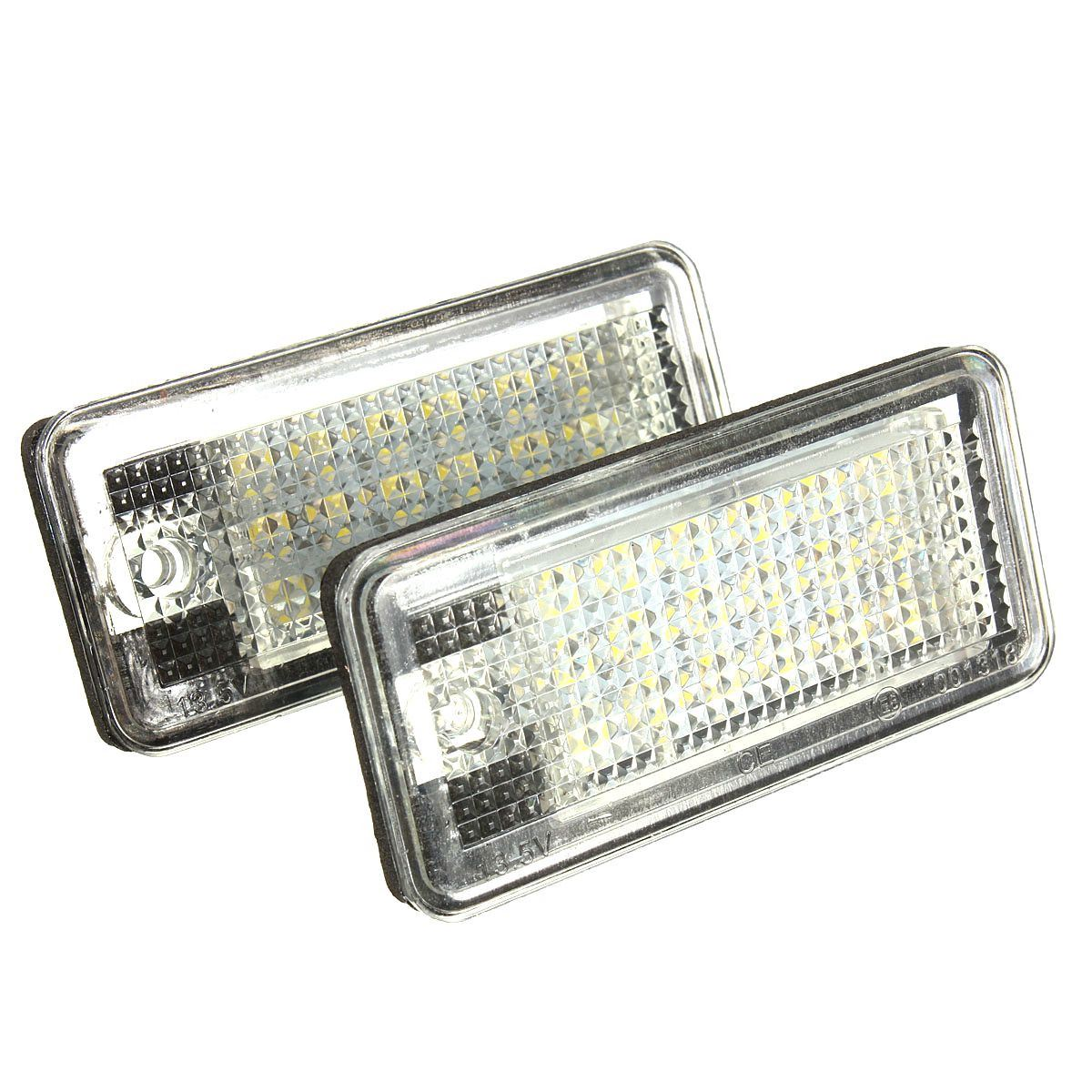Brand New 2 White Car Error 18 LED License Number Plate Light Lamp For Audi A3 S3 A4 S4 B6 B7 A6 S6 A8 Q7 0001108175 0986018340 458211 new starter for audi a4 a6 quattro volkswagen passat 2 8 3 0 4 2 l