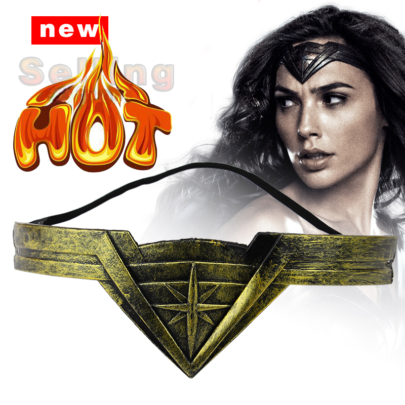 Neue Wonder Woman Stirnband Maske Superheld Supergirl Wonder Woman Film Cosplay Requisiten Zubehör Halloween