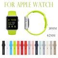 2017 correa de silicona caliente para apple watch band correa de reloj deportivo para apple watch nuevos colores cacao ocen azul rosa hormigón negro