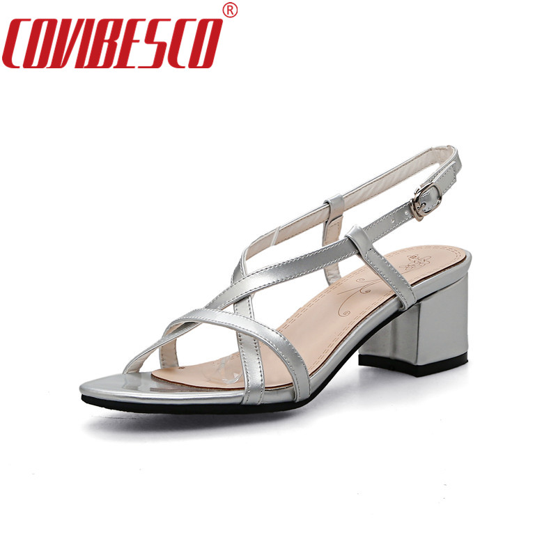 COVIBESCO Summer Shoes Woman Platform Sandals Women Soft PU Leather Casual Open Toe Gladiator High Heels Women Shoes 2017 gladiator summer shoes woman platform sandals women flats soft leather casual open toe wedges sandals women shoes r18