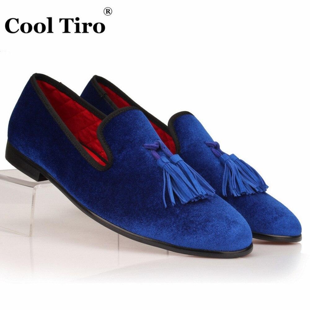 Blue Velvet Shoes Sale