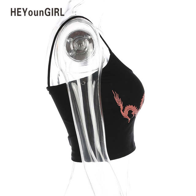 994eafd3de placeholder HEYounGIRL Tank Top Dragon Printed Crop Tee Shirt Tube Tops Sexy  Seamless Bandeau Sleeveless Wrap Chest