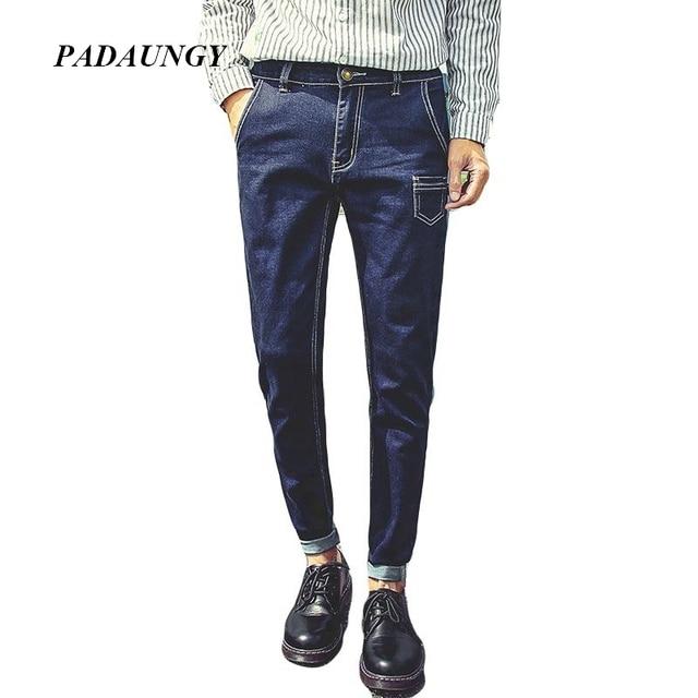 0f1883a9d8 PADAUNGY Men Harem Jeans Slim Fit Denim Trousers Jeggings Pants High  Stretch Brand Jean Homme Joggers Pantalones Vaqueros Hombre