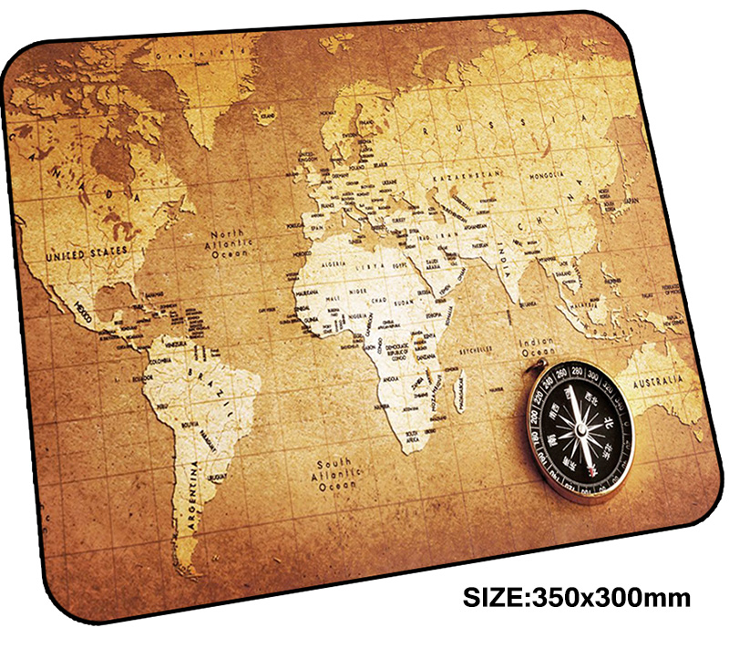world map mousepad gamer 350x300x3mm gaming mouse pad Indie Pop notebook pc accessories padmouse Aestheticism ergonomic mat ...