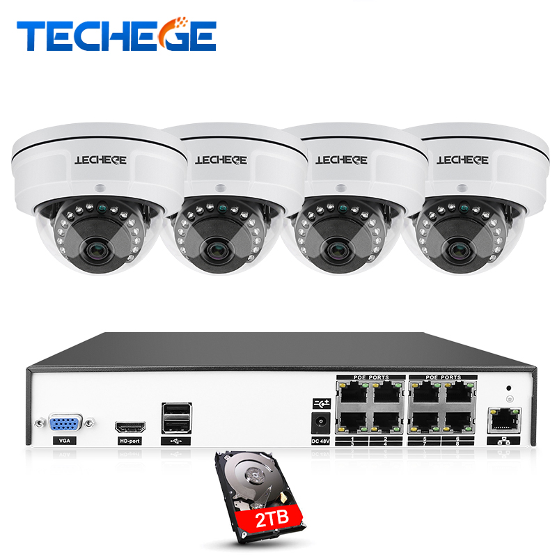 H.265 8CH POE NVR CCTV System 4MP POE IP Camera 2592*1520 IR Night Vision Waterproof Vandalproof Video Security Surveillance Kit h 265 h 264 960p 1080p 4mp 2592 1520 motorized 2 8 12mm lens bullet network ip camera poe ipcam ip67 waterproof camara cctv
