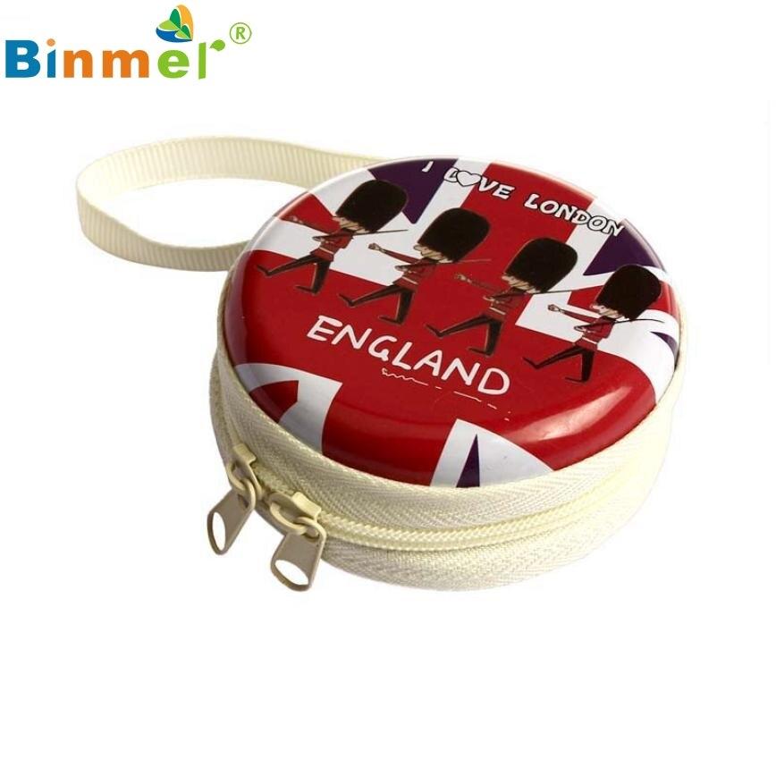 Beautiful Gift New Red Mini Zipper Earphone Headphone Box Bag SD Card Carrying Pouch Storage Wholesale price Feb17