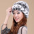 Das Mulheres da forma Chapéus Handmade Beanie Cap Chapelaria Feminina Inverno 2016 Chapéu Forrado a Pele Rex Verdadeira Pele De Coelho Natural das Mulheres Gorros chapéus