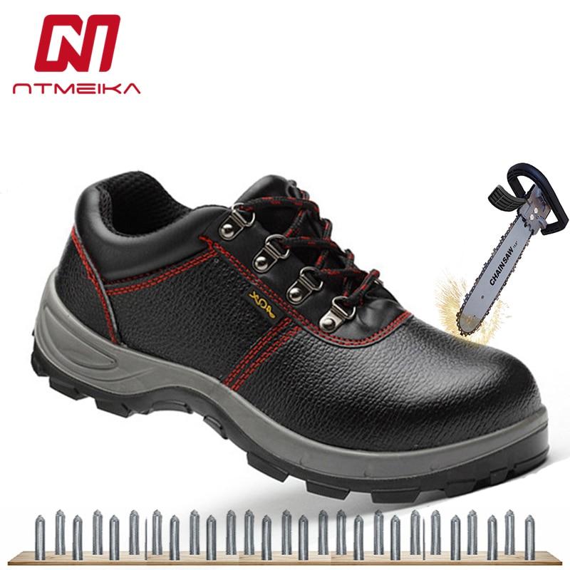9f7c8498f Calçados de segurança Botas De Homens Tamanho Grande 36-46 Trabalho  Biqueira de Aço Sapatos