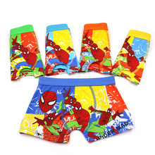 5 Pcs/lot Boys Boxer enfant garcon Childrens Cotton kids baby Underwear Spiderman Cartoon Boy Boxers child thong