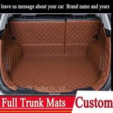 Пользовательские Полный багажник 3D коврики авто кожаный коврик для Hyundai Elantra Акцент Санта-Фе Соната Tucson ix35 IX25 сопротивление скольжению