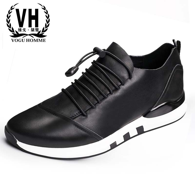 Europe 17 years of the new leather sports shoes casual leather men shoes for British male low  breathable sneaker the spring and summer men casual shoes men leather lace shoes soled breathable sneaker lightweight british black shoes men