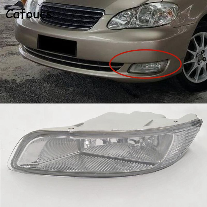 Cafoucs For Toyota Corolla 2003 2004 2005 2006 Car Front Bumper Fog Light Driving Lamp With Bulbs 81220-02080 81210-02080 front bumper fog lamp grille led convex lens fog light angel eyes for vw polo 2001 2002 2003 2004 2005 drl car accessory p364