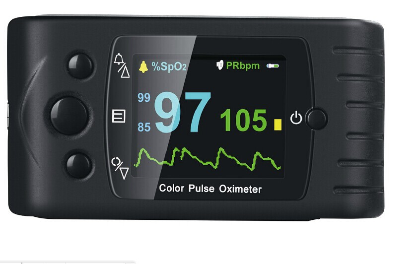 Hot Sale spo2 fingertip pulse oximeter with USB connect PC softwear CMS60C Handheld blood oxygen Monitor SPO2 pulse rate CE FDA