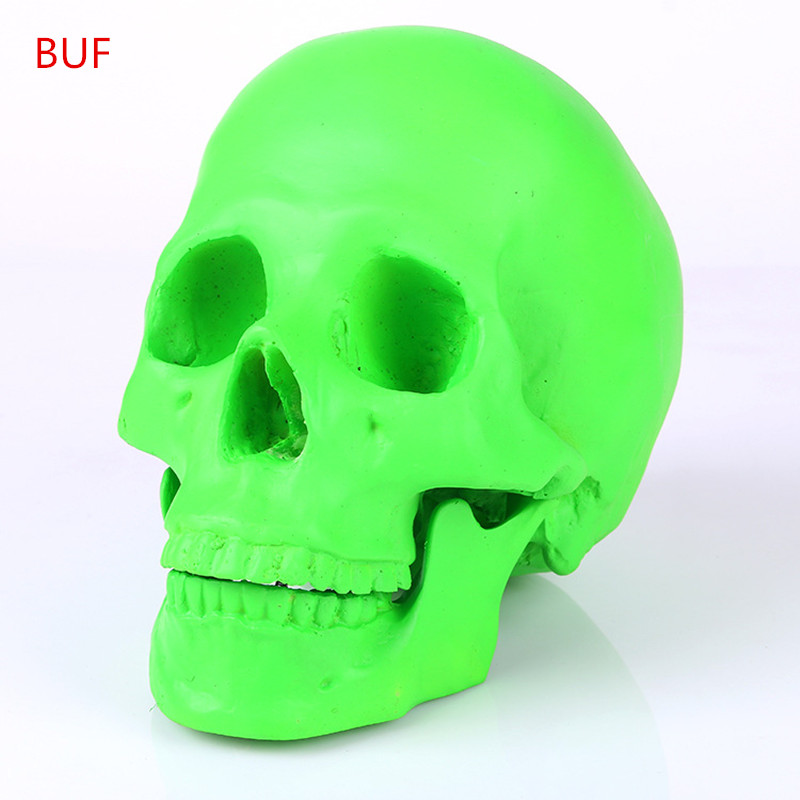 Resin Craft Green Skull Statues For Decoration Creative Skull Statue Sculpture Home Decoration Halloween Decoration Скульптура