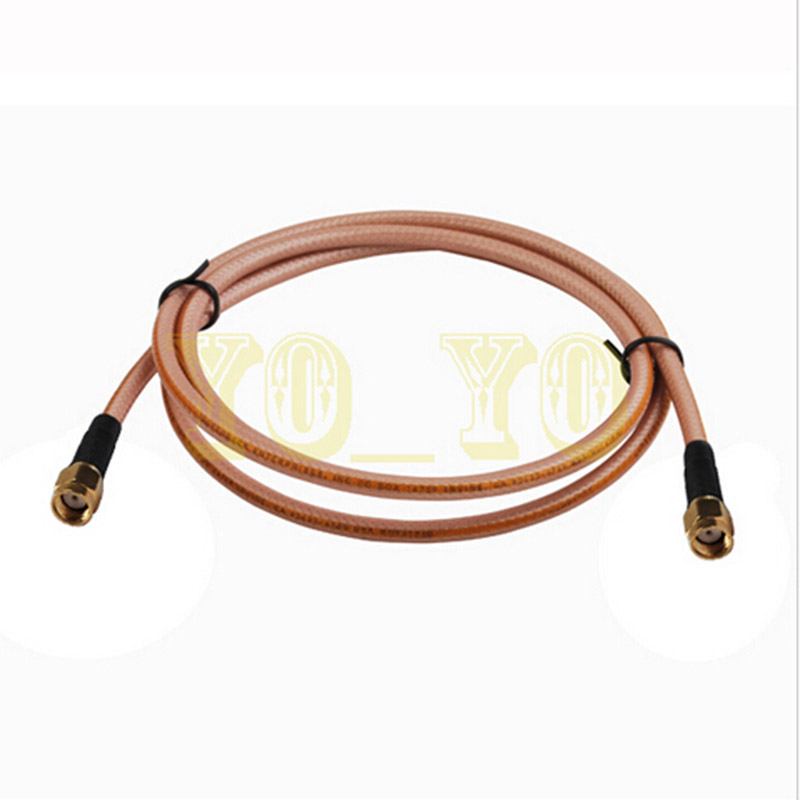 ALLISHOP 2m RP-SMA male to RP SMA male pigtail jumper cable RG400 low loss 2015 new arrival rg174 x 15cm 1pcs rp sma female to y type 2xts9 ts 9 plug splitter combiner cable jumper pigtail