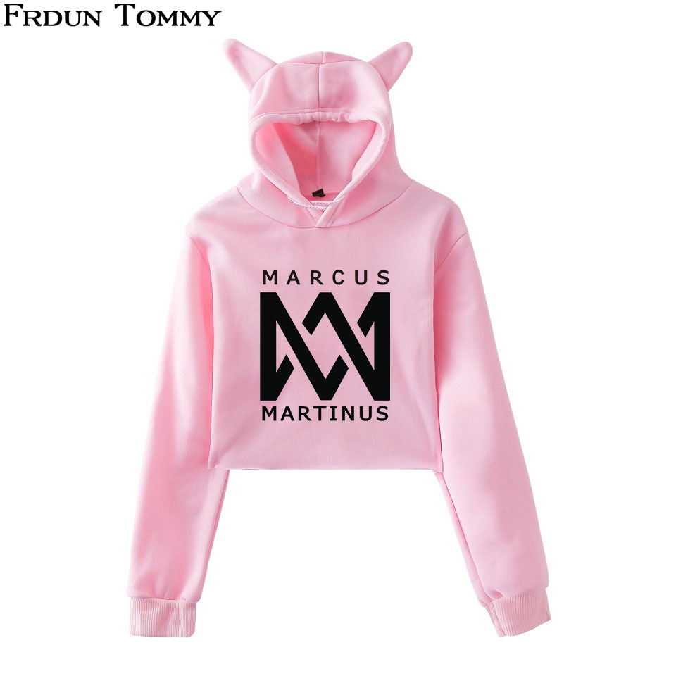 Frdun Tommy Marcus &martinus Cat Ear Sweatshirt Women Favorite Keep Warm 2018 New Ouewear Casual Cute Cat Ear Sweatshirt