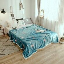 Теплый плюшевый Ультра мягкий из искусственной норки толстые фланелевые Флисовое одеяло пледы Twin/Full/queen размеры кровать/диван/Air крышка мультфильм фламинго