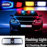 AEING Car LED Sun Visor Hazard Emergency Strobe Flash Light 86LED Warning Lamp Red Blue White Amber