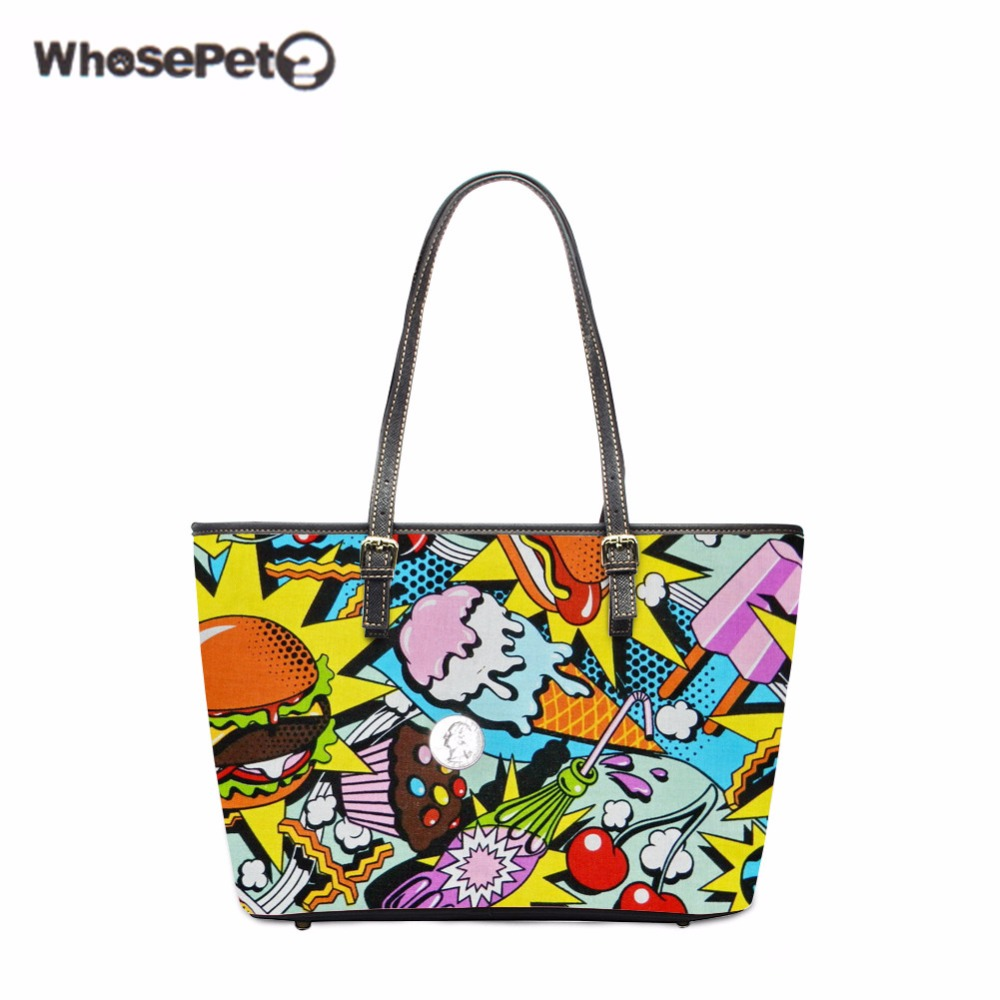 WHOSEPET Cute Women Shoulder Bags Handbag Organizer For Ladies Tote Food Girls Tote Bag Top-handle Bags Female Stylish Satchel корчевский ю фронтовик стреляет наповал