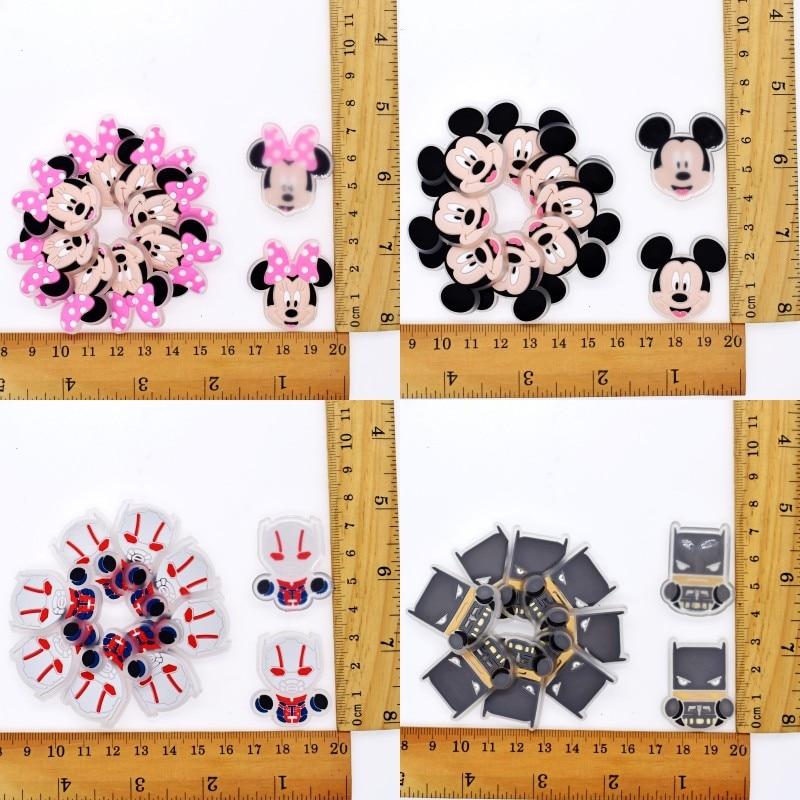 10pcs Mickey Minnie Batman Antman Piglet Flatback DIY Decorations Stitching Soft Patch Fit Clothes T Shirt Pants Bag
