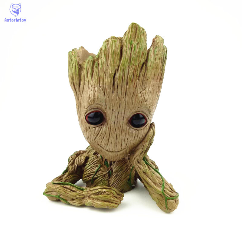 Marvel Movie Guardians of the Galaxy Film Cute Flowerpot Groot Action Figures The Treant Collection Model Toy guardians of the galaxy console logo vinyl decal sticker car movie marvel laptop