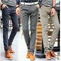 2016 новая зимняя мужская мода повседневные брюки льняные брюки мужские брюки случайных Тонкий