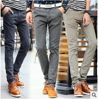 2016 yeni kış moda erkek rahat pantolon keten pantolon erkek rahat pantolon Ince