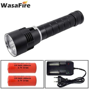 Image 1 - Wasafire 10000 Lumens Diving Torch Professional Powerful led Waterproof Scuba Dive Flashlight Diver Light LED Underwater Lantern